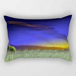 Great plains cattails Rectangular Pillow