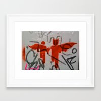 super heroes Framed Art Prints featuring Super Heroes by Mauricio Santana
