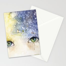"""""""In your face live heaven"""" Stationery Cards"""