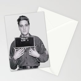 Elvis Presley Mugshot, Wall Art, Gift for Him, Cool, Retro, Vintage Print, Stationery Cards