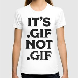 .gif not .gif (Regina Black Edition) T-shirt