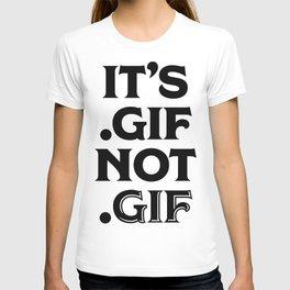.gif not .gif (Regina Black Edition) T-shirt