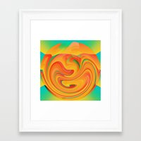 desert Framed Art Prints featuring Desert by Casey