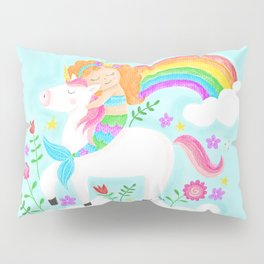 Unicorns, Mermaids & Rainbows...Oh My! Pillow Sham