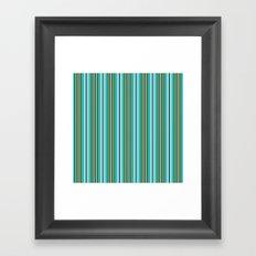 Pin Striped Suit Framed Art Print