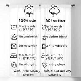 100% Cotton   Laundry Label Blackout Curtain