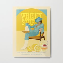 Whisky Sour Metal Print