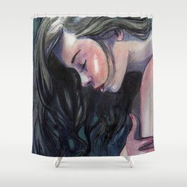Cold Blue Shower Curtain
