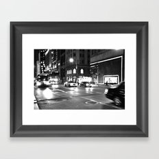 5th Avenue Noir Framed Art Print