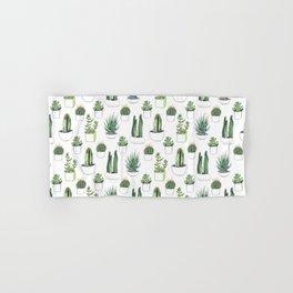 Watercolour Cacti & Succulents Hand & Bath Towel