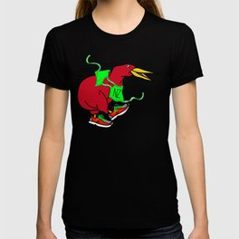 Kiwi Wearing Running Shoes T-shirt