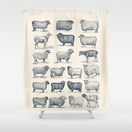 Types of Sheep Shower Curtain