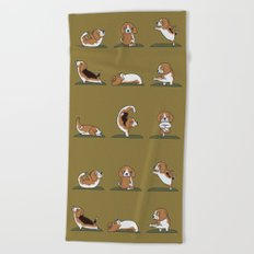 Beagle Yoga Beach Towel