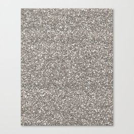 Silver Glitter I Canvas Print