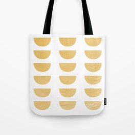 Lena Gold Half Moon Abstract Tote Bag
