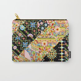 Crazy Patchwork Triangles Carry-All Pouch