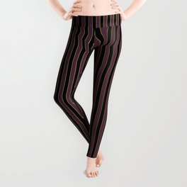 Thin Golden Pinstripe on Royal Purple and Black Leggings