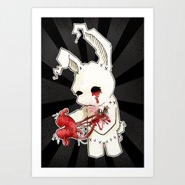 Dead Bunny's Fatal Love Art Print