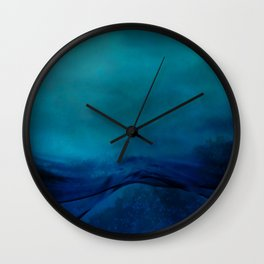 Storm Water #impressionism #abstract #moods #society6 Wall Clock
