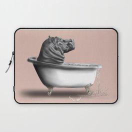 Hippo in Bath Laptop Sleeve