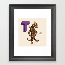 Animals & Instruments ABCs – T Framed Art Print