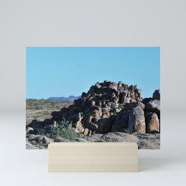 San Bernardino County Granite Boulders Mini Art Print