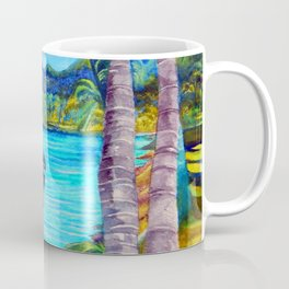 Tardis on the Beach Coffee Mug