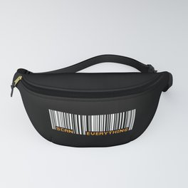 Scan Everything Amazonian Barcode - Party Code Fanny Pack