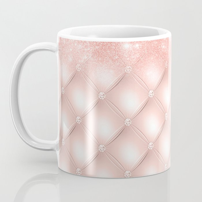 Luxury Rosegold Glitter Pearl Coffee Mug