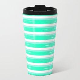 Mint stripes Travel Mug