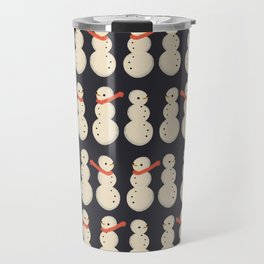 Snow And Scarves- Navy Travel Mug