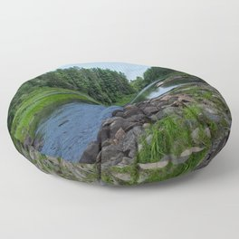 Boundary Waters River Floor Pillow