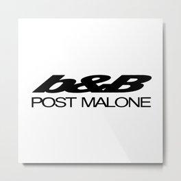 Inspired fan merch post office malone university Metal Print