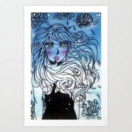 Blue Who? Art Print