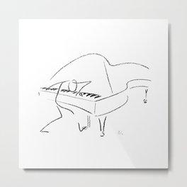 Keith Jarrett – Improvisations in Jazz Metal Print