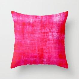 Grunge distressed pink Throw Pillow