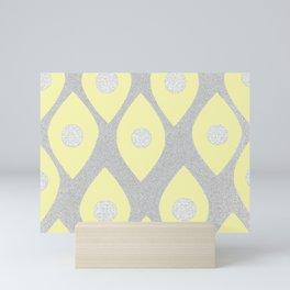 Eye Pattern Yellow Mini Art Print
