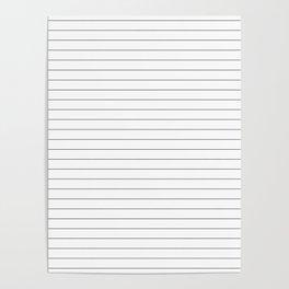 White Black Lines Minimalist Poster