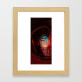 Spaceman Red Framed Art Print