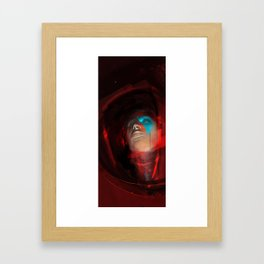 Spaceman Red Framed Art Print