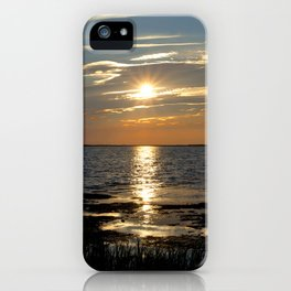 Watercolor Sunset, Janes Island 13, Maryland iPhone Case