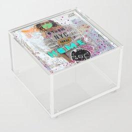 S T A Y   H O M E  Acrylic Box