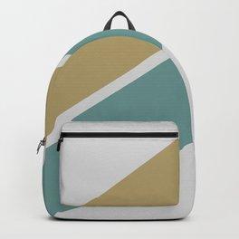 Gold & Teal Stripes Backpack