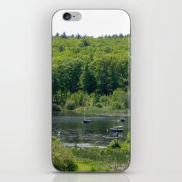 Boats on the Lake, Wellesley College iPhone Skin