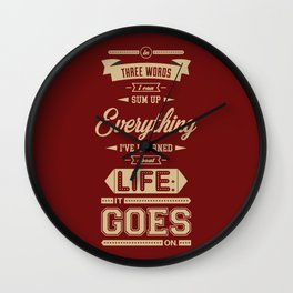 Lab No. 4 It Goes On Robert Frost Motivational Quote Wall Clock