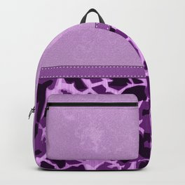Purple Lovers Giraffe Print and Digital Faux Leather Backpack