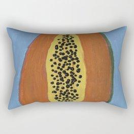 Papaya Poppin Rectangular Pillow