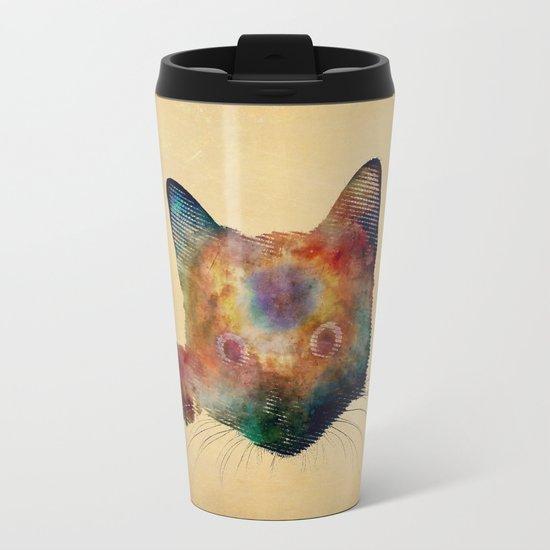 Nebula Cat Travel Mug