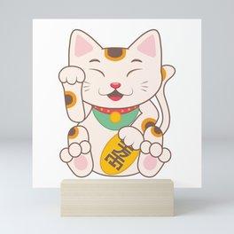 Lucky Cat Maneki Neko Mini Art Print