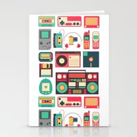 technology Stationery Cards featuring Retro Technology 1.0 by Ralph Cifra